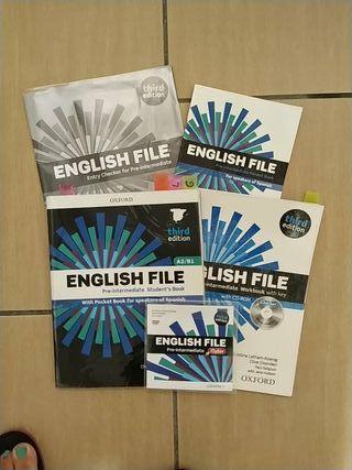 libro inglés File third Edition A2/B1. Nuevo.
