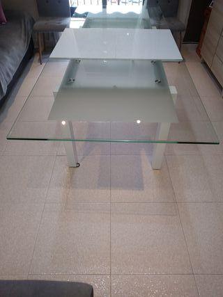 Mesa Comedor Cristal+Laca 1.55×90.