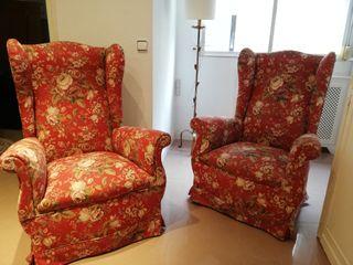 2 sillones orejeros