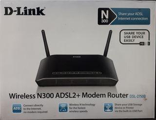 Router DLink ADSL WiFi N300 NUEVO