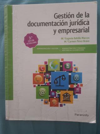 Gestión de la documentación jurídica y empresaria