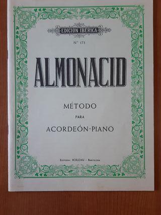 Método para piano y acordeón