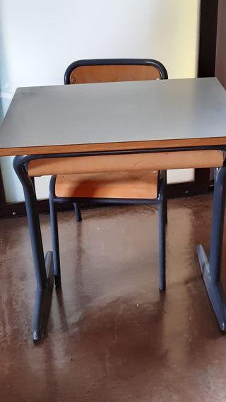 Escritorio, Pupitre y silla escolar niños