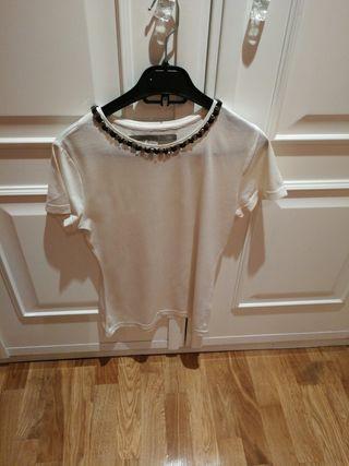 camiseta de algodón Zara talla m