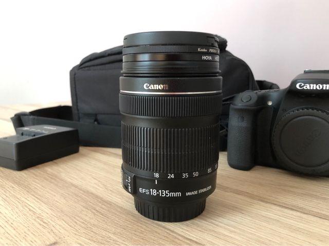 Réflex Canon 70D + Objeto 18-135 mm