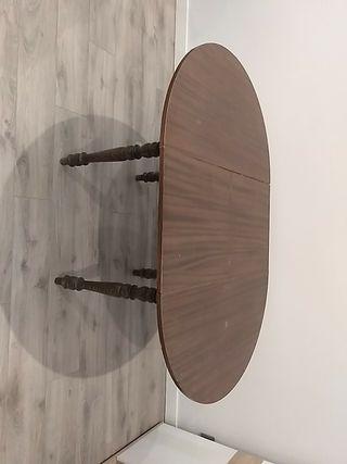 mesa comedor extensible de madera 105cm
