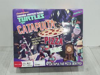 JUEGO DE MESA TORTUGAS NINJA CATAPULTA PIZZA