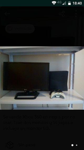 monitor LG más Xbox más 14 juego
