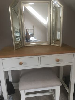 Next Rustic dressing table set with Mirror