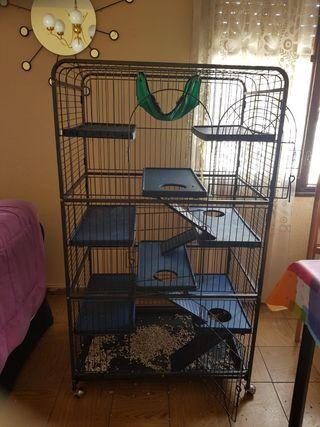 jaula para hurones