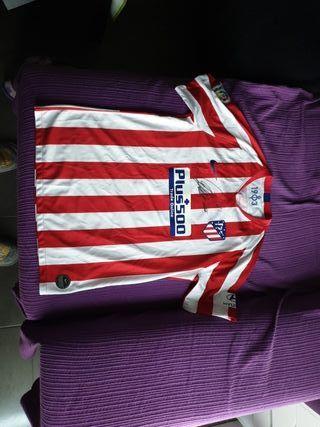 camiseta del Atletico de Madrid firmada