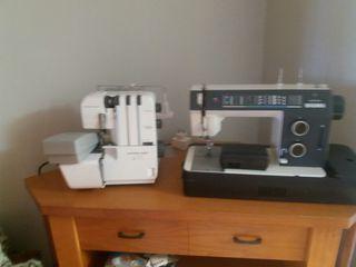 Maquina de coser y rremayadora