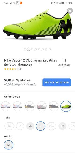 Botas de Futbol Nike sin estrenar.