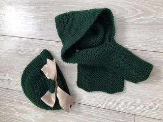 Conjunto gorro bufanda artesanal 2 3 años
