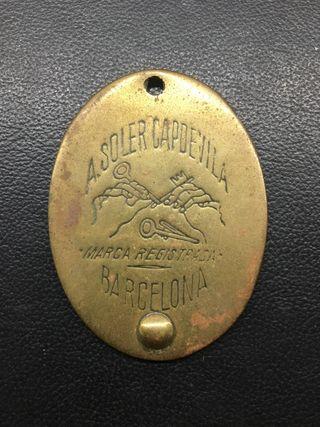 Placa de latón A. Soler Capdevila