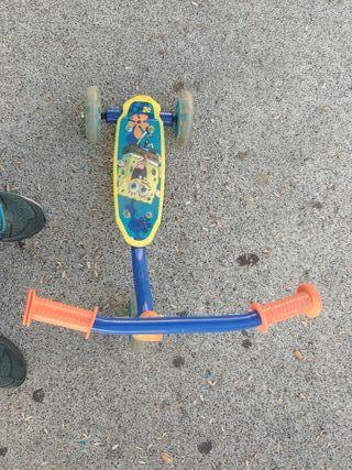 Patine infantil 3 ruedas Bob Esponja