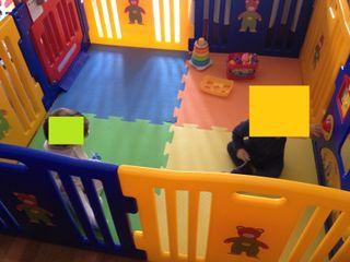Parque infantil gemelar XXL ibaby play twin