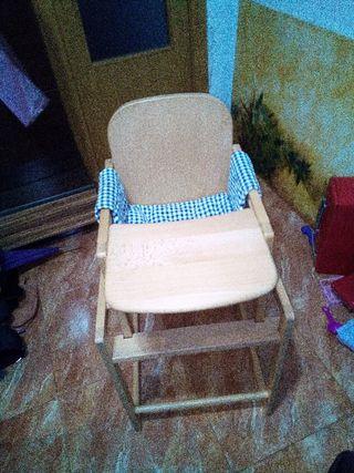 trona, silla de comer para bebe, niño/a dos en uno