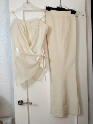 Conjunto blusa pantalón boda/comunión