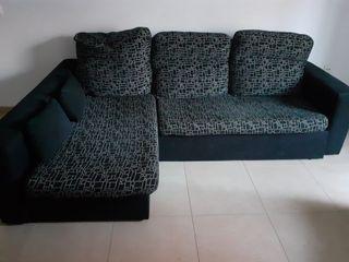 sofá cama más sillón orejero
