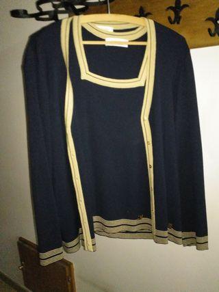 blusa con chaqueta son 2 pieza.chaqueta cremallera