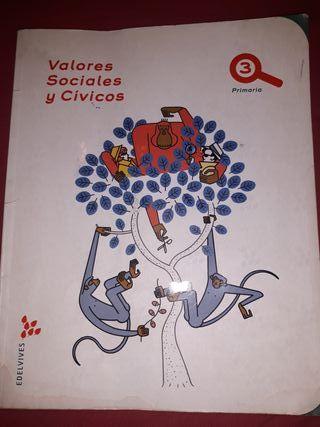 libro valores sociales y civicos 3 de primaria