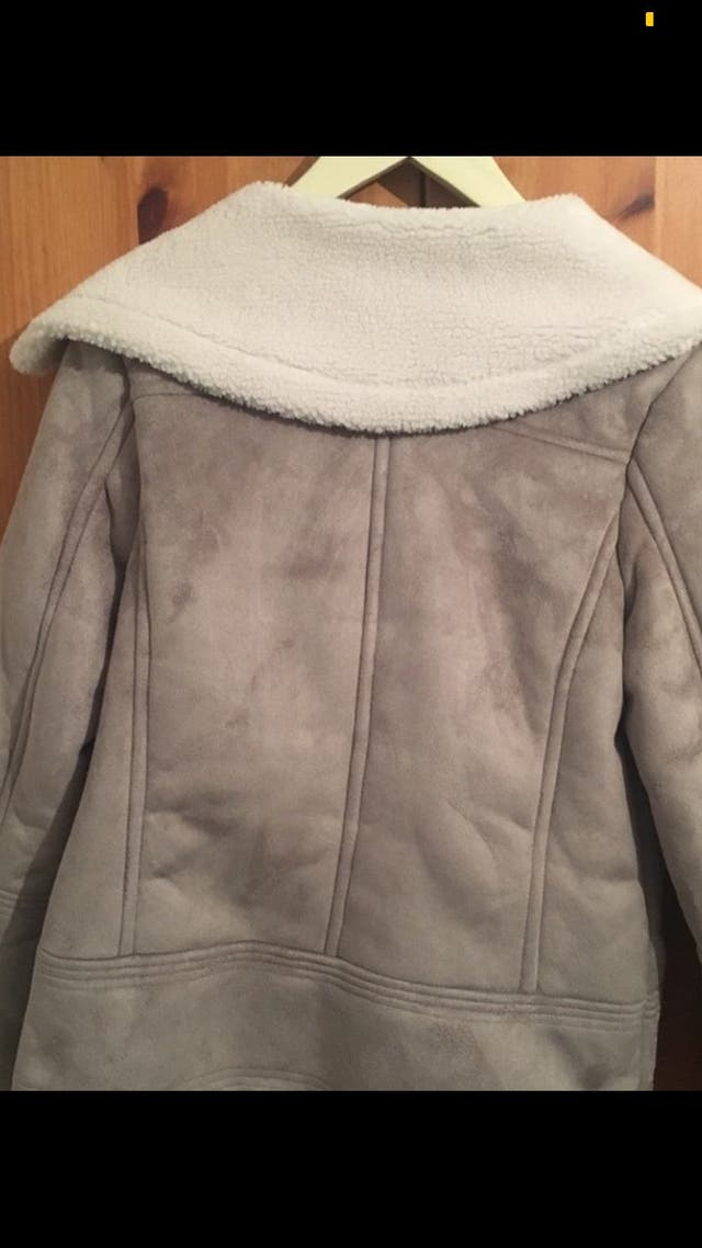 Grey suede jacket from new look size 8