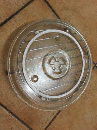 Plato microondas y rejilla grill