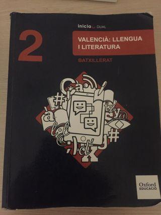 Libro Valencià Oxford 2 Bachiller