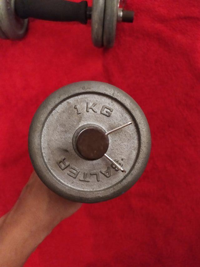 2 mancuernas 5 kg