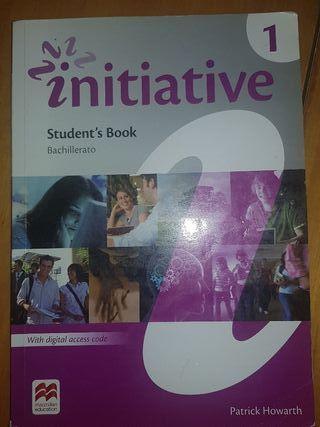 """Libro de texto """"Initiative"""" de inglés 1°Bachillera"""