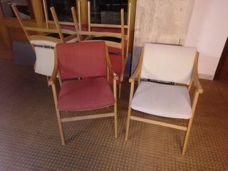 6 sillones de oficinas en muy buenas condiciones