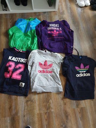 Adidas Mujer (Pack 5 sudaderas originales)