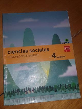 """Libro de texto """"Ciencias Sociales"""" Cuarto primaria"""