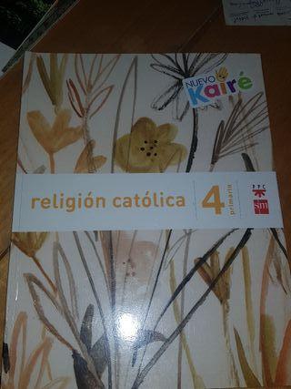 """Libro de texto """"Religión Católica"""" Cuarto primaria"""