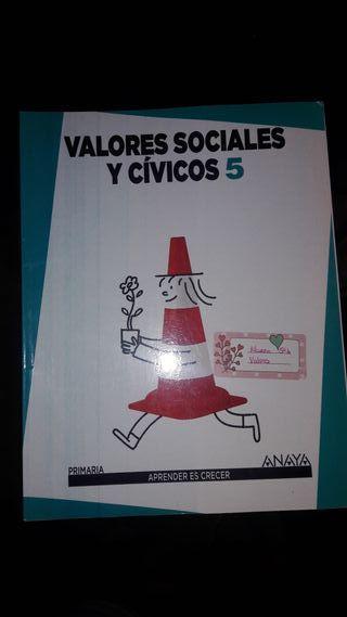 Libro Valores Sociales y Cívicos 5