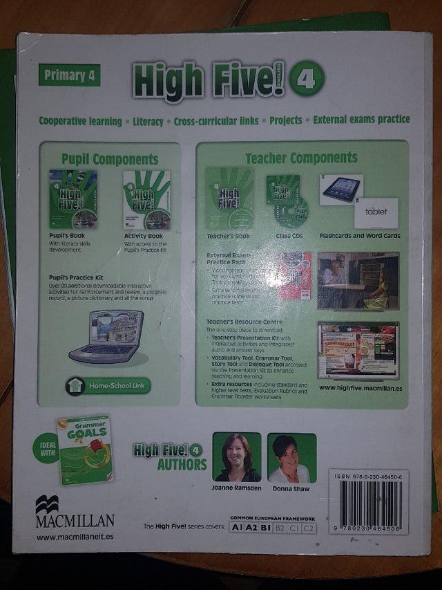 "Libros de texto ""High Five"" de inglés 4° Primaria"