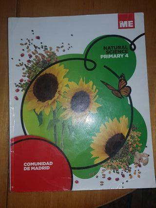 """Libro de texto """"Natural Science"""" Cuarto Primaria"""