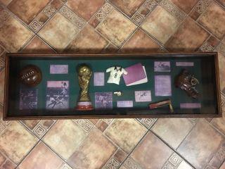 CUADRO DE MADERA FUTBOL VINTAGE