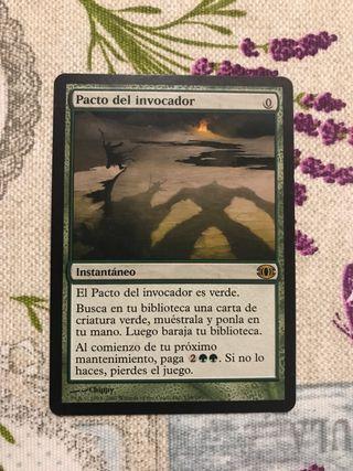 """Carta Magic """"Pacto del invocador"""""""