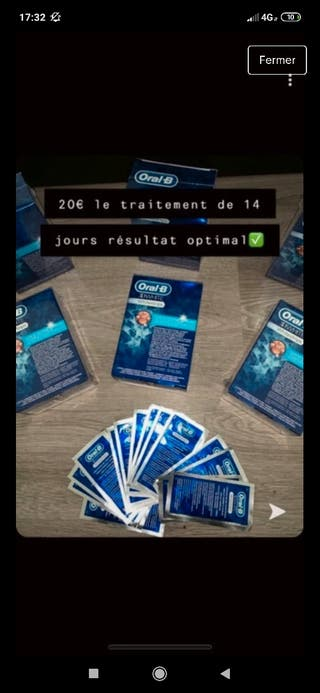 blanchiment dentaire oral-b 14 jours