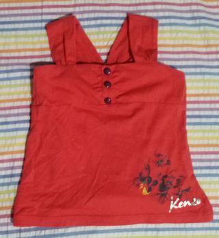 Camiseta tirantes rojo Kenzo Kids
