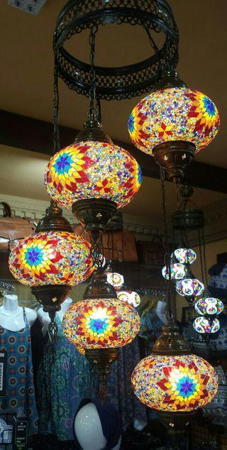 Lámpara turca de techo 3 6