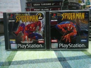 Spiderman 1 y 2 Pal completos Ps1 Psx