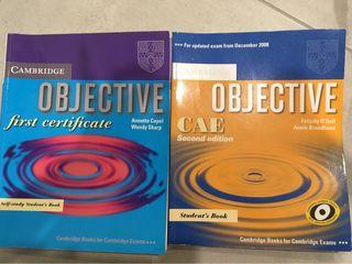 Libro de inglés Objective. First certificate.