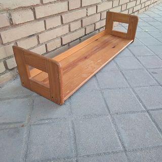 Estantería balda madera maciza vintage años 60/70