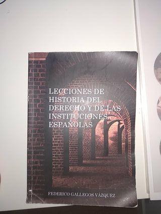 Libro historia de las instituciones españolas
