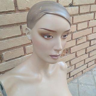Maniquí busto femenino vintage años 40/50