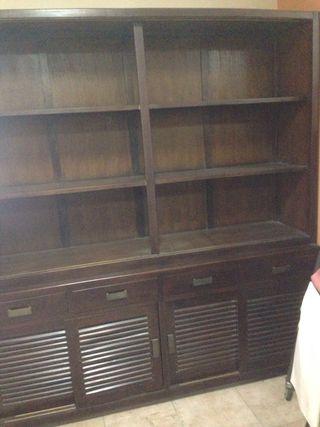 Gran librería aparador con puertas y cajones