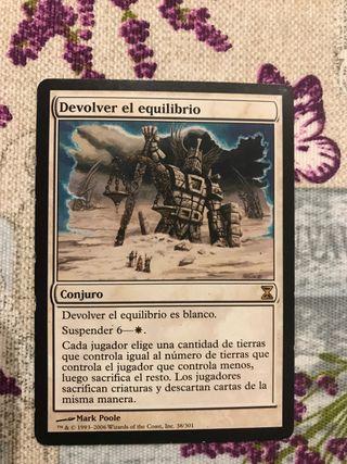 """Carta Magic """"Devolver el equilibrio"""""""